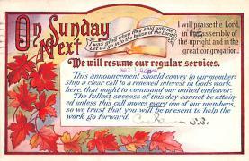 sub000101 - On Next Sunday
