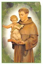 sub000125 - Prayer to St. Anthony, non postcard, smaller prayer card