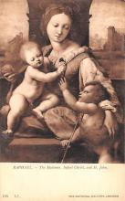 sub000129 - Raphael - The Madonna.  Infant Christ, and St. John