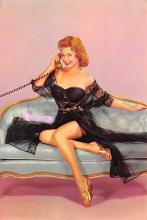 sub000555 - Woman sitting on a couch on the phone