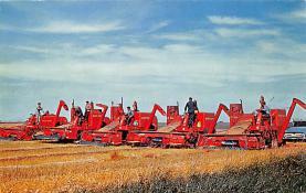 sub001257 - Bountiful North Dakota, harvest scene on a Stutsman country Farm