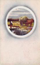 sub001417 - Farmer with his horse