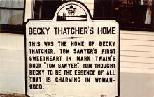 sub001459 - Marker at Becky Thatcher's Home