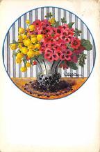 sub013651 - Flowers in a Vase Artist Koch Postcard