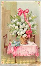 sub013659 - Flowers in a Basket  Postcard