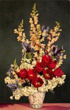 sub013669 - Flowers in a Vase Tulips and Snapdragons Postcard