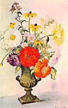 sub013675 - Flowers in a Vase Bouquet by Elsa W Bley Postcard