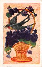 sub013705 - Bird and Flowers in a Vase  Postcard