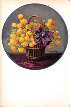 sub013735 - Flowers in a Basket  Postcard