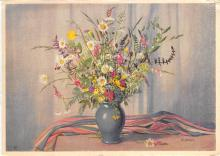 sub013805 - Flowers in a Vase  Postcard