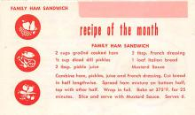 sub013809 - Family Ham Sandwich foulder postcard with 4 pages front and back Postcard