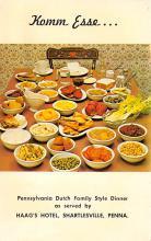 sub013815 - Pennsylvania Dutch Family Style Dinner Postcard
