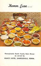 sub013821 - Pennsylvania Dutch Family Style Dinner Postcard