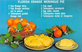 sub013823 - Florida Orange Meringue Pie  Postcard