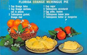sub013837 - Florida Orange Meringue Pie  Postcard