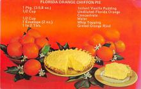 sub013847 - Florida Orange Chiffon Pie  Postcard