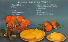 sub013849 - Florida Orange Chiffon Pie  Postcard
