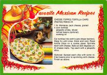 sub013851 - Favorite Mexican Recipes Cheese-Topped Tortilla Chips Postcard
