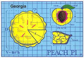 sub013853 - Georgia Peach Pi  Postcard