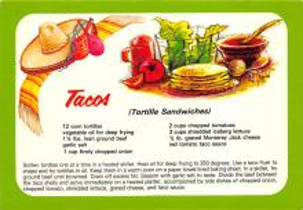 sub013861 - Tacos  Tortilla Sandwiches Postcard