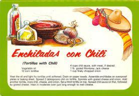 sub013863 - Enchiladas con Chili Tortillas with Chili Postcard