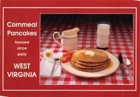 sub013879 - West Virginia Cornmeal Pancakes Postcard
