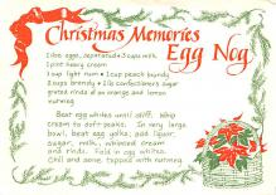 sub013883 - Christmas Memories Egg Nog Postcard