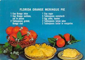 sub013889 - Florida Orange Meringue Pie  Postcard