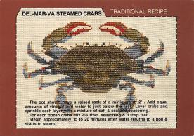 sub013895 - Del-Mar-Va Steamed Crabs Postcard