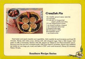 sub013905 - Southern Recipe Series Crawfish Pie Postcard