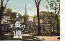 sub013915 - Statue in Fayette Park Syracuse, New York, USA Postcard
