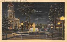sub013917 - Fountain at Night Silver Creek, N.Y., USA Postcard