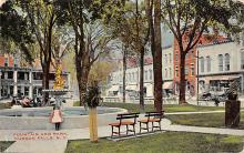 sub013921 - Fountain and Park Hudson Falls, N.Y., USA Postcard