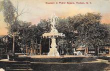 sub013923 - Fountain in Public Square Hudson, N.Y., USA Postcard