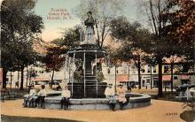 sub013925 - Fountain Union Park Hornell, N.Y., USA Postcard