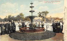 sub013929 - Fountain, Dedicated to Biship Fitzgerald Ocean Grove, N.J., USA Postcard