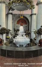 sub013943 - Fountain, Pompeian Room Brandeis Stores, Omaha, Ne., USA Postcard