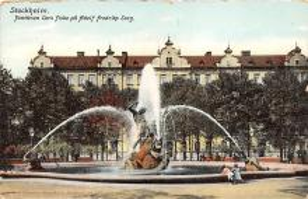 sub013949 - Fountain Cors fiske Stockholm Postcard