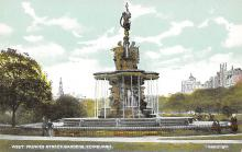 sub013951 - Fountain, West Princes Street Gardens Edinburgh Postcard