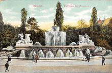 sub013957 - Fountain   Muchen, Wittelsbacher Brunnen Postcard