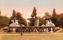 sub013961 - Fountain   Muchen, Wittelsbacher Brunnen Postcard