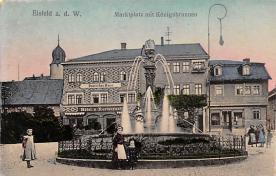 sub013965 - Fountain       Eisfeld a. d. W. , Marktplatz mit Konigsbrunnen Postcard