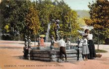 sub013981 - Throop Memorial Fountain at Nay-Aug Park Scranton PA. Postcard