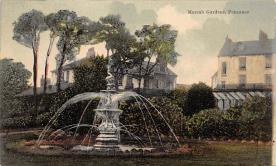 sub013995 - Fountain   Morrab Gardens, Penzance Postcard