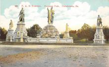 sub014003 - F.A.B. Fountain Fairmont Park, Philadelphia, Pa., USA Postcard