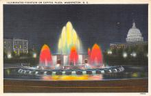 sub014005 - Illuminated Fountain  Capitol Plaza, Washington, D.C., USA Postcard