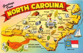 sub014037 - Greetings from North Carolina USA Postcard