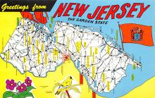 sub014055 - Greetings from New Jersey USA Postcard