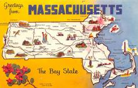 sub014057 - Greetings from Massachusetts USA Postcard