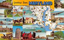 sub014059 - Greetings from Maryland USA Postcard